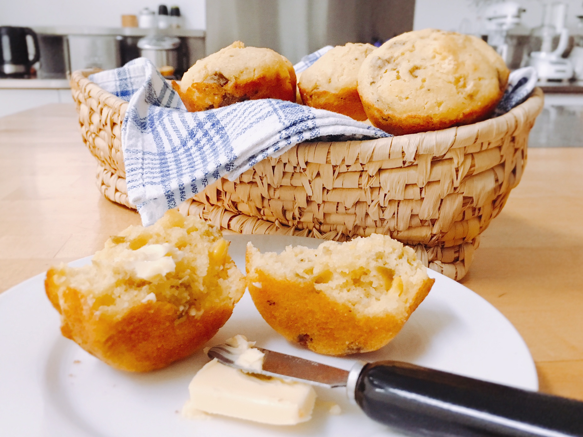 Corn Muffins with Hatch Chiles